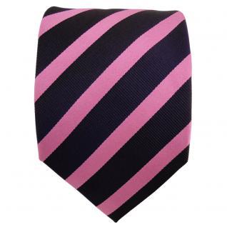Designer Seidenkrawatte rosa blau dunkelblau gestreift - Krawatte Seide Tie - Vorschau 2