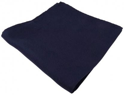 Seideneinstecktuch marine schwarzblau Uni feine Wellenstruktur - 100% pure Seide