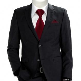 TigerTie Security Sicherheits Krawatte + Einstecktuch in bordeaux einfarbig Uni - Vorschau 2