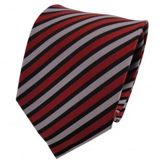 TigerTie Seidenkrawatte orange grau schwarz gestreift - Krawatte Seide Binder