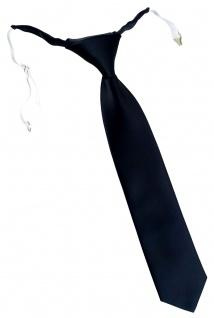 TigerTie Designer Security Sicherheits Krawatte in schwarz Uni mit Gummizug