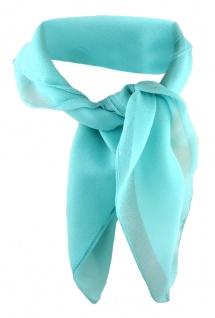 TigerTie Damen Chiffon Nickituch mint Gr. 50 cm x 50 cm - Tuch Halstuch Schal