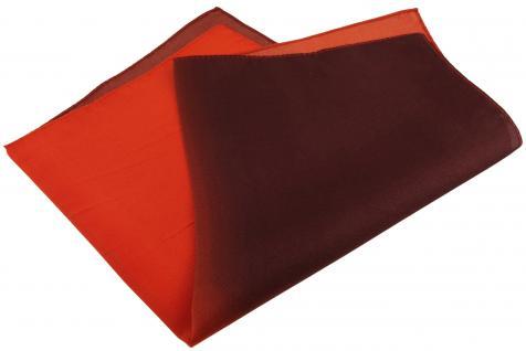 Multi TigerTie Designer Seideneinstecktuch in rot weinrot dunkelrot Uni