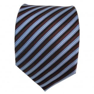 Designer Seidenkrawatte blau rot bordeaux silber gestreift - Krawatte Seide Tie - Vorschau 3