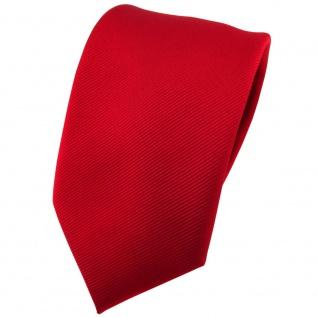 TigerTie Seidenkrawatte in rot Uni Rips - Krawatten Breite 7 cm x 150 cm Länge