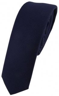 Modische schmale TigerTie Designer Krawatte in marine dunkelblau fein gepunktet