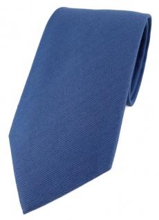 TigerTie Designer Krawatte in dunkelblau - 100% Baumwolle - Krawattenbreite 8 cm