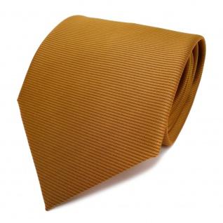 Designer Krawatte orange gold rotorange quer gestreift - Schlips Binder Tie