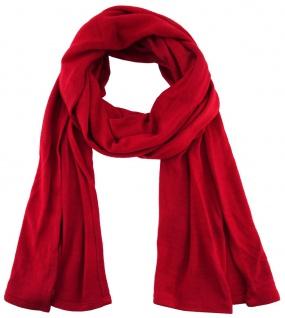 TigerTie - Schal in rot einfarbig Uni - Größe 180 x 30 cm - 100% Viscose