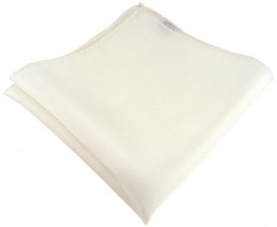 Einstecktuch handrolliert creme einfarbig Uni - 100% Seide - Gr. 30 x 30 cm