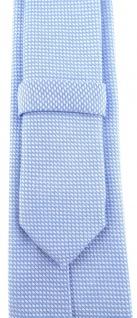 schmale TigerTie Designer Krawatte Pique hellblau-weiss gemustert - Baumwolle - Vorschau 3