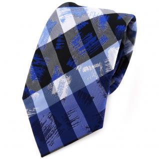 TigerTie Designer Krawatte in blau grau silber gestreift - Tie Binder
