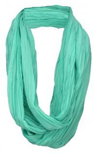 TigerTie Loop Schal grün dunkles mint einfarbig Uni - Schlauchschal Rundschal