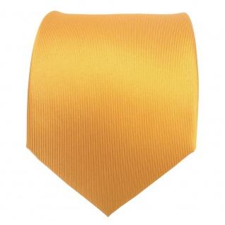 TigerTie Designer Seidenkrawatte gelb sonnengelb Uni - Krawatte Seide Silk Tie - Vorschau 2