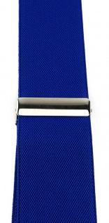 TigerTie Unisex Hosenträger mit 3 extra starken Clips - blau royal Uni - Vorschau 5