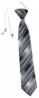 TigerTie Security Sicherheits Krawatte grau silber anthrazit hellgrau gestreift