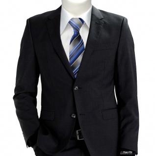 TigerTie Krawatte blau hellblau silber anthrazit grau gestreift - Tie Binder - Vorschau 3