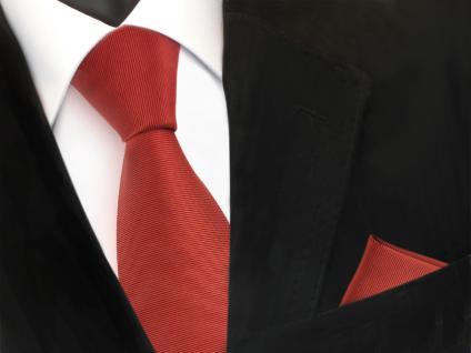 Set Seidenkrawatte + Einstecktuch Seide braun rostbraun kupfer - Krawatte Tuch