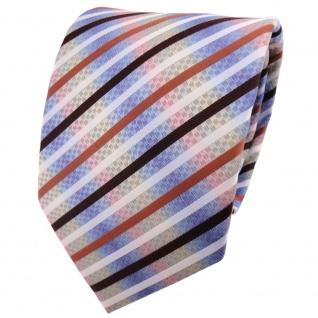schöne TigerTie Designer Krawatte in mehrfarbig gestreift - Cravate Tie Binder