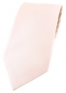 TigerTie Krawatte in zartrosa Uni - 100% Baumwolle - Krawattenbreite 8 cm