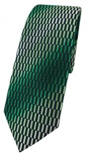 schmale TigerTie Designer Krawatte in grün dunkelgrün schwarz silber gemustert