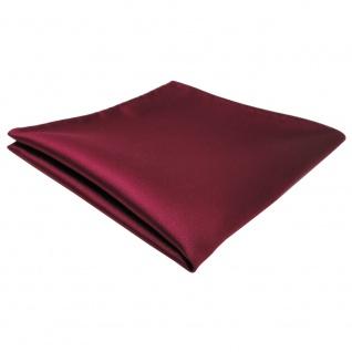 schönes TigerTie Einstecktuch rot bordeaux einfarbig - Tuch Polyester