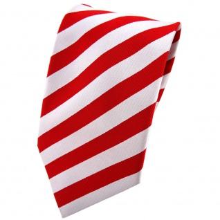 Seidenkrawatte rot weiß silber gestreift - Krawatte Seide Silk Binder Cravatte