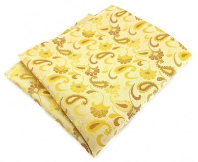 TigerTie Designer Einstecktuch in gelb senfgelb gold Paisley gemustert