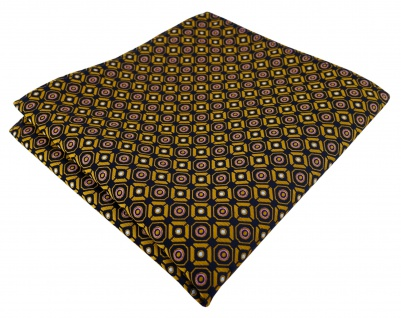 TigerTie Designer Einstecktuch in gold rosa silber schwarz gemustert