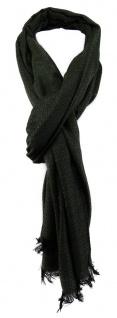 TigerTie Schal in tannengrün schwarz gemustert mit kleinen Fransen