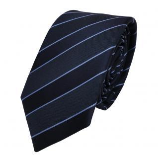 Schmale TigerTie Designer Krawatte - blau dunkelblau gestreift