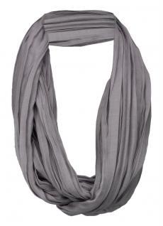 TigerTie Loop Schal in grau silber einfarbig Uni - Schlauchschal Rundschal