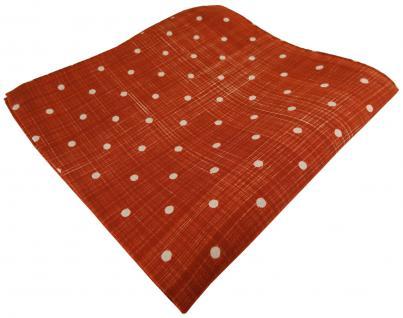 TigerTie Designer Seideneinstecktuch in rot grau gepunktet - 100% Seide