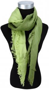 Halstuch - Farbverlauf grün grasgrün mit Fransen - Größe 100 x 100 cm