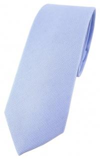 schmale TigerTie Krawatte in blau Uni - 100% Baumwolle - Krawattenbreite 6 cm