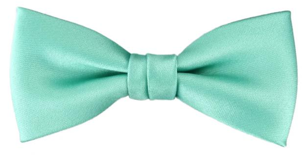 Kleinkinder Baby Fliege grün mint Uni - Gr. 29 bis 50 cm Halsumfang verstellbar