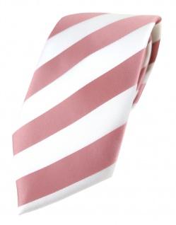 TigerTie Designer Krawatte in rosa weiss gestreift