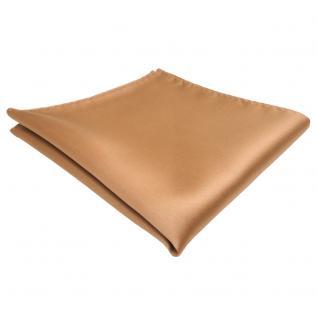 schönes TigerTie Einstecktuch in gold einfarbig - Tuch Polyester