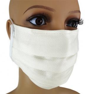 TigerTie Gesichtsmaske mit Nasenbügel Pique creme gemustert mit Gummiband