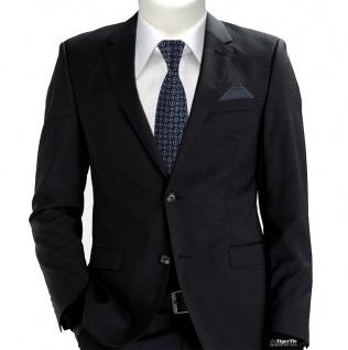 TigerTie Krawatte + Einstecktuch in anthrazit rosa silber schwarz gemustert - Vorschau 2