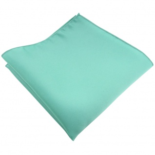 TigerTie Satin Einstecktuch in grün mint Uni - Tuch 100% Polyester