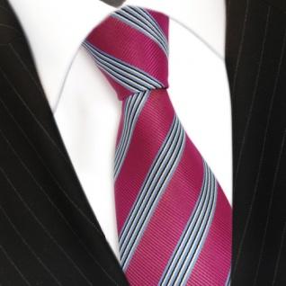 TigerTie Krawatte - Schlips Binder pink blau schwarz weiss gestreift - Tie - Vorschau 3