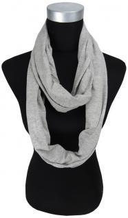 Loop Schal Halstuch in grau einfarbig - Größe 180 x 45 cm - 100% Baumwolle