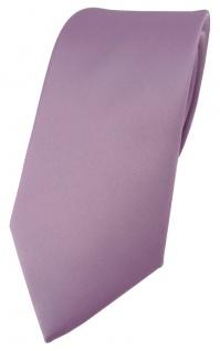 TigerTie Designer Krawatte in flieder einfarbig Uni - Tie Schlips