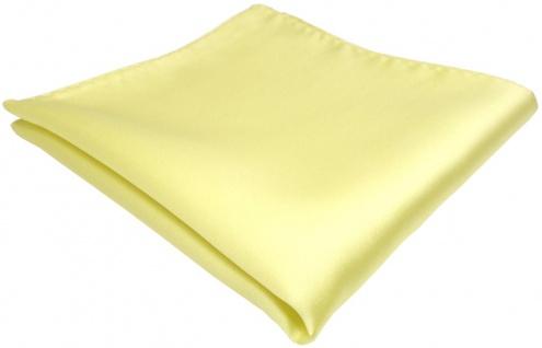 TigerTie Einstecktuch in gelb blassgelb einfarbig Uni - Größe 26 x 26 cm