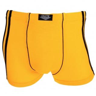 Boxershorts Pants Retro Shorts Unterhose gelb schwarz Baumwolle Gr. L
