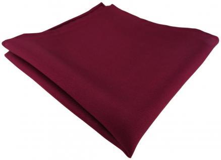 Einstecktuch handrolliert bordeaux einfarbig Uni - 100% Seide - Gr. 30 x 30 cm