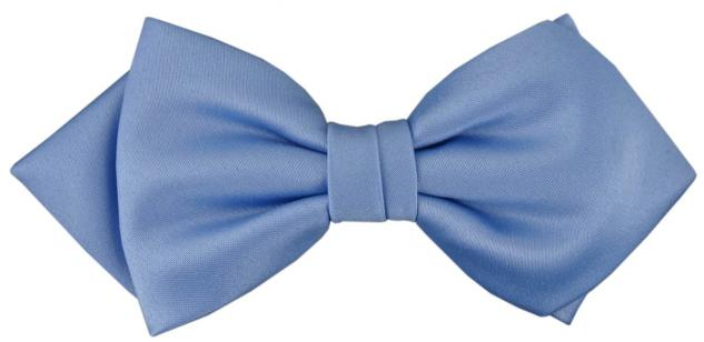 vorgebundene TigerTie Spitzfliege Schleife pastellblau Einfarbig + Geschenkbox