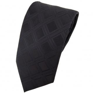 Designer Seidenkrawatte schwarz schwarzbraun gemustert - Krawatte Seide Binder