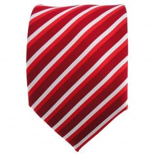 TigerTie Designer Krawatte rot hellrot verkehrsrot silber gestreift - Binder Tie - Vorschau 2